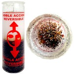 Double Action Reversible Candle, remove curses, remove bad luck