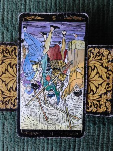 5 of Wands Reversed