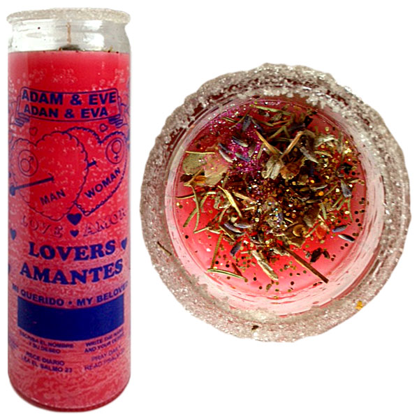 Lovers Amantes, Lovers Amantes Spell Candle, Adam & Eve Candle, Candle Magic Spells, love spells, sex spells